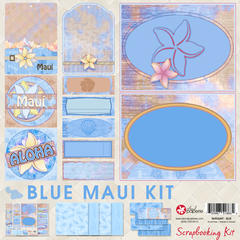 12x12 Blue Maui Scrapbooking Kit