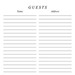 Classic 8x8 Guestbook Page