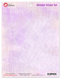 Alphabet Sticker Set Purple