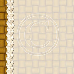 N16 Golden Basket Weave Border 8x8 Paper