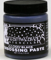 Glossy Black Embossing Paste