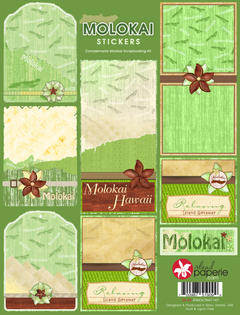 Molokai Journal Stickers