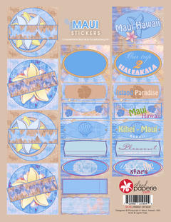 Blue Maui Journal Stickers