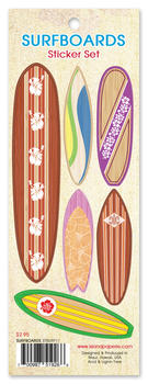 Surfboards Sticker Set