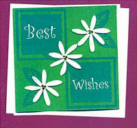 Best Wishes Tiare Greeting Card