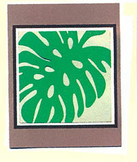 Brown Monstera Greeting Card