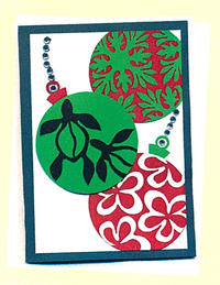 3 Christmas Ornaments Greeting Card