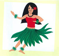 Female Hula Large Laser Cut