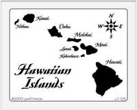 Hawaiian Islands Stencil