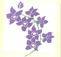 Orchids Purple Laser Cut