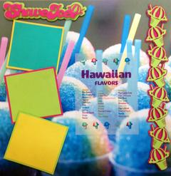 Shave Ice Scrapbook Page Kit