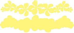 Plumeria Lemon on Lemon Laser Cut Border