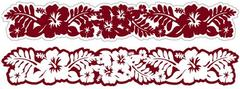 Hibiscus Rouge Laser Cut Border
