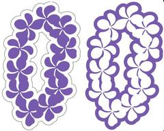 Plumeria Lei Grape Laser Cut