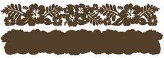Hibiscus Chestnut on Chestnut Laser Cut Border