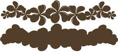 Plumeria Chestnut on Chestnut Laser Cut Border