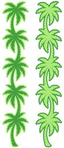 Palm Tree Laser Cut Border