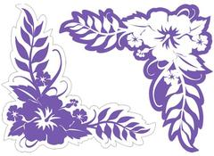 Hibiscus Corner Grape Laser Cut