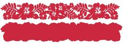 Hibiscus Crimson on Crimson Laser Cut Border