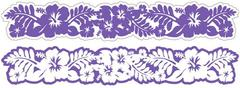 Hibiscus Grape Laser Cut Border