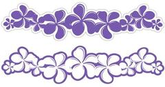 Plumeria Grape Laser Cut Border