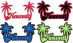 Hawaii Word with Palm Laser Cut