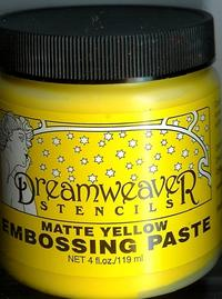 Matte Yellow Embossing Paste