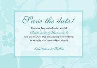 Tiffany Hibiscus Save The Date Card