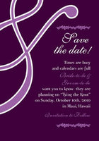 Purple Aperstand Save The Date Card