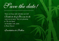 Bamboo Forest Save The Date Card