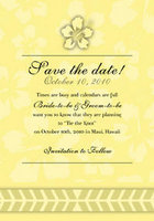 Hibiscus Icon Save The Date Card