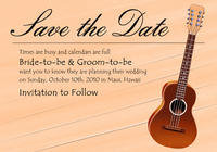 Ukulele Save the Date Card