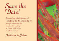 Heliconia Watercolor Save The Date Card