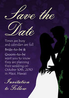Silhouette Save The Date Card