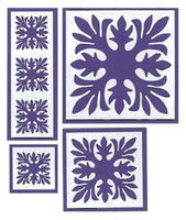 Ti Leaf Quilt Purple Laser Cuts