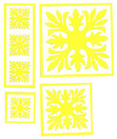 Ti Leaf Quilt Yellow Laser Cuts