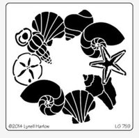Shell Wreath Stencil