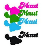 Maui Island w/ Word 2 by 4 Laser Cut