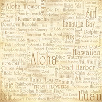 Z11 Vintage Oahu Words 8x8 Paper