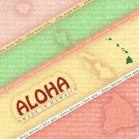 D01 Aloha Set Made in Hawaii 8x8 Paper