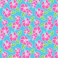 H05 Peppy Pink Teal Hibiscus