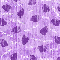 HH01 Kauai Purple Words