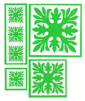 Ti Leaf Quilt Lime Green Laser Cuts