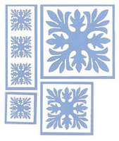 Ti Leaf Quilt Blue Laser Cuts