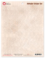 Alphabet Sticker Set Brown