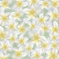B08 Blue Plumeria Scatter Large