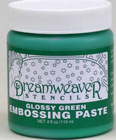 Glossy Green Embossing Paste