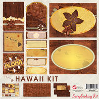 8x8 Hawaiian Islands Scrapbook Kit