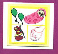 Baby Girl Yellow Greeting Card