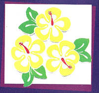 Hibiscus Yellow Laser Cuts
